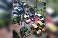 Los vehículos que participaron fueron identificados y serán sancionados.