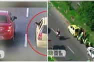 Los delincuentes fueron perseguidos por tierra y aire con el helicóptero Halcón desde el Sur del Valle de Aburrá.