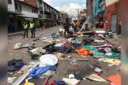 En el lugarpermanecían 700 habitantes en situación de calle, sin ningún tipo de protección de bioseguridad.