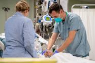 Pacientes contagiados de coronavirus en EE.UU.
