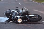 Fallece motociclista que chocó con un camión en la autopista sur de Medellín