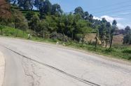 Sitio donde asesinaron a una mujer en Medellín