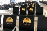 Protocolos en el aeropuerto José María Córdova de Rionegro.