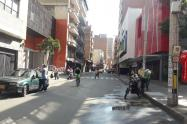 Centro de Medellín en cuarentena.