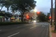 Calles de Medellín durante la cuarentena.