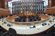 Panorámica de la Asamblea de Antioquia antes de la pandemia.