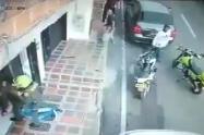 Uno de los presuntos ladrones fue capturado.