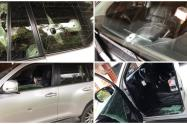 Estas dos personas recibieron diez disparos cuando se movilizaban en una camioneta.