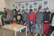 """Fuerte golpe a """"los Chacales"""", capturados 15 presuntos integrantes y cinco menores aprehendidos en Antioquia"""