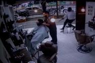 Cámara de seguridad grabó el homicidio de cliente de Barbería en Medellín
