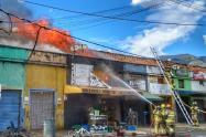 Incendio en el centro de Medellín