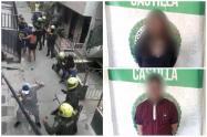 Con picos de botella recibieron a la Policía en Castilla