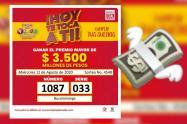 Nadie ganó la lotería con el número de reseña carcelaria de Uribe