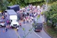 Más de 400 personas saquearon vehículo con productos de aseo en el suroeste de Antioquia
