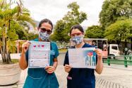 Cartas que reciben los profesionales de la salud en Medellín.