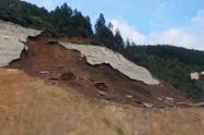 Lugar del deslizamiento en el proyecto Pacífico 1.