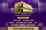 Este evento podrá verse de manera gratuita por www.alertapaisa.com
