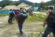 Hace días abandonaron un corregimiento 108 personas. En una escuela aún permanecen albergadas tres familias.