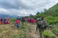 Ejército rescató el cuerpo de un indígena de Ituango que murió por una mina