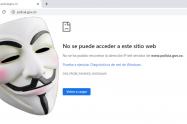 Anonymus habría atacado la página de la Policía