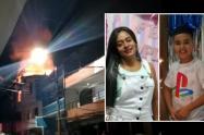 Tragedia en Bello, una mujer y su sobrino de 10 años murieron en un incendio