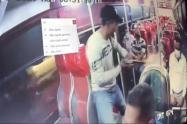 [Video] Para atracar un bus, ladrón asesino a una mujer con una changón