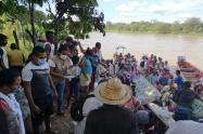 Desplazamiento de indígenas en Cáceres, Antioquia.
