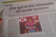 Editorial del 6 de septiembre de 2020 de El Colombiano.