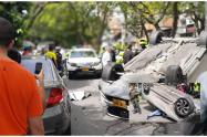 Luego de este incidente uno de los conductores le disparó al otro dejándolo lesionado.