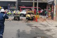 Las personas heridas, presentaron lesiones que no revisten peligro para su integridad, revelaron las autoridades.