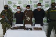 Los capturados estarían perpetrando homicidios selectivos, y extorsiones en varios municipios del norte del departamento.