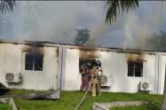 La conflagración no dejó personas lesionadas.