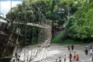 Puente colgante en Necoclí, Antioquia