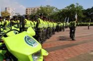 Los uniformados estarán realizando patrullajes en las iglesias, parques principales, campos santos y en los ejes viales del departamento.