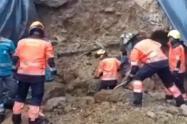 Atrapado en un deslizamiento de tierra murió trabajador de la construcción en Medellín