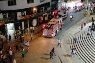 Lugar de la emergencia en Bello, Antioquia.