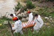 El cuerpo fue hallado en el rió Medellín.