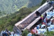 Accidente de camión en Valdivia, Antioquia