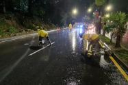 Aguacero inundó varios sitios del barrio El Poblado de Medellín