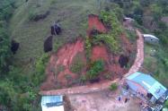 Deslizamiento en Vegachí, Antioquia