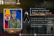 Soldado murió tras pisar una mina antipersonal en Tarazá, Antioquia