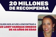 Recompensa por Luz Leidy Vanegas.