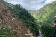 Zona emergencia, derrumbe km 39 - Archivo Invias