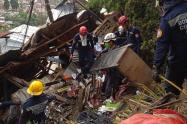 Dos desaparecidos y tres lesionados, saldo preliminar de la emergencia en Itagüí.