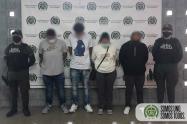 Les echaron guante a cuatro presuntos integrantes del grupo criminal de Niquia en Bello