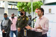 El alcalde Daniel Quintero entrega balance sobre homicidios en la ciudad
