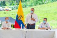 Presidente Iván Duque en su visita a Dabeiba, Antioquia