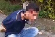 [Video] Casi linchan a un joven que iba robar una casa en Bello