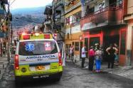 Lugar del incendio en el barrio Buenos Aires de Medellín.