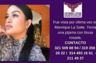 Yuly Daniela Patiño Pérez, mujer reportada como desaparecida en Medellín.